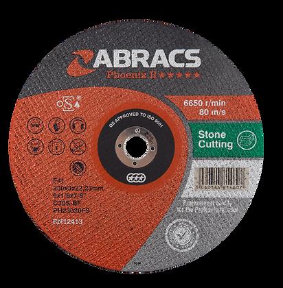 ABRACS 230mm x 3mm x 22mm Phoenix Stone Cut Discs