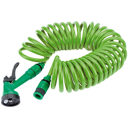 RECOIL HOSE WITH SPRAY GUN AND TAP CONNECTOR (10M)