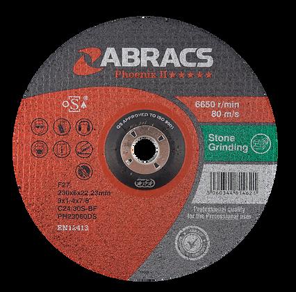 ABRACS 230mm x 6mm x 22mm Phoenix Stone Grind Discs
