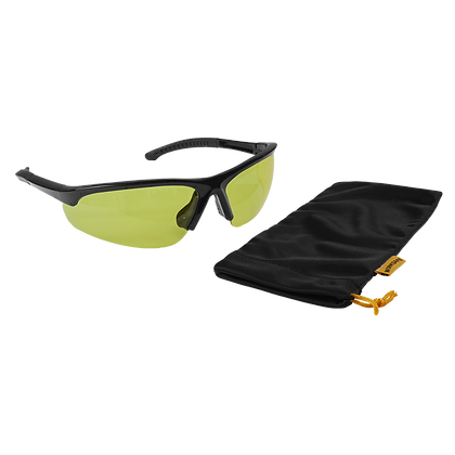 Zante Style Amber Lens Safety Glasses with Flexi Arms
