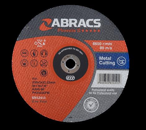 ABRACS 230mm x 3mm x 22mm Phoenix Metal Cut Discs