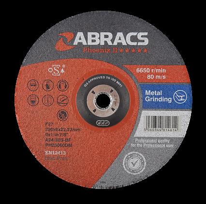 ABRACS 230mm x 6mm x 22mm Phoenix Metal Grind Discs