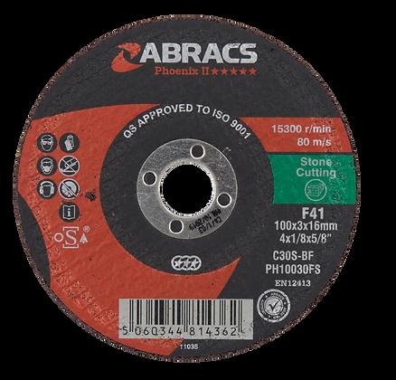 ABRACS 100mm x 3mm x 16mm Phoenix Stone Cutting Discs
