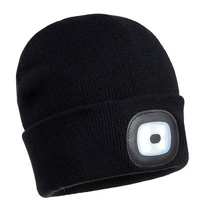 Portwest B029 - Beanie LED Head (Black, One Size)
