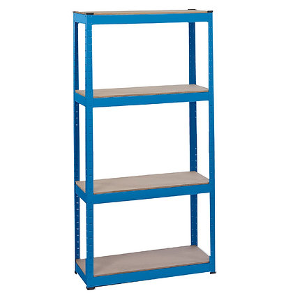 STEEL SHELVING UNIT - FOUR SHELVES (L760 X W300 X H1520MM)