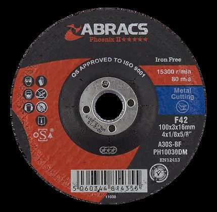 ABRACS 100mm x 3mm x 16mm Phoenix Metal Cutting Discs