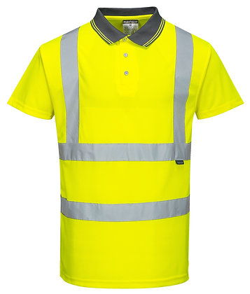 Portwest S477 - Hi-Vis Short Sleeve Polo (Yellow)
