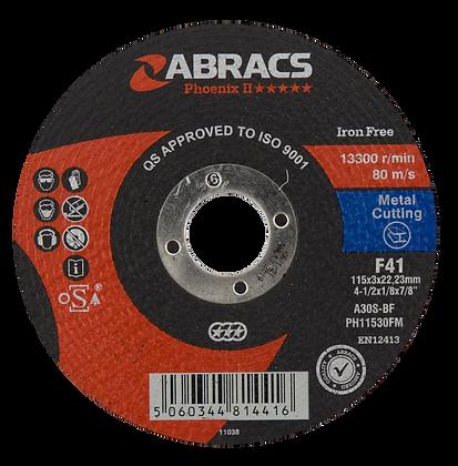 ABRACS 115mm x 3mm x 22mm Phoenix Metal Cutting Discs