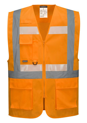Portwest G456 - Glowtex Ezee Zip Executive Vest