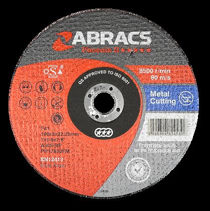 ABRACS 178mm x 3mm x 22mm Phoenix Metal Cut Discs