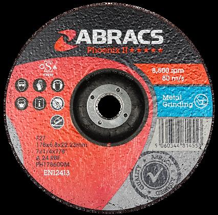 ABRACS 178mm x 6mm x 22mm Phoenix Metal Grind Discs