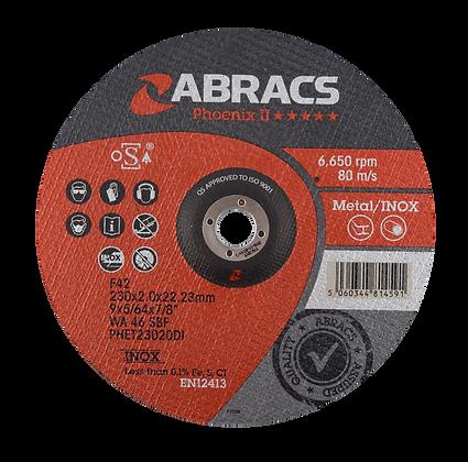 ABRACS 230mm x 2.0mm x 22mm Phoenix Extra Thin Metal Cut Discs