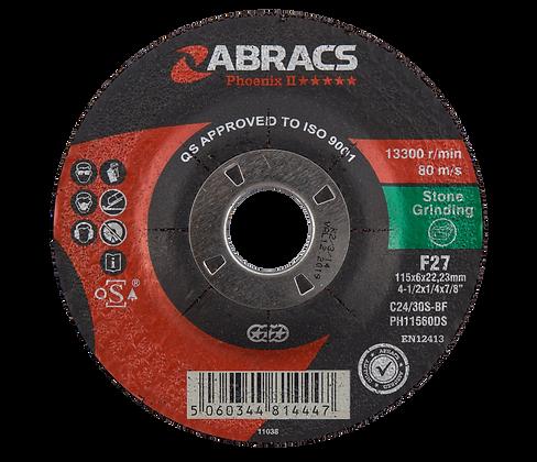 ABRACS 115mm x 6mm x 22mm Phoenix Stone Grind Discs