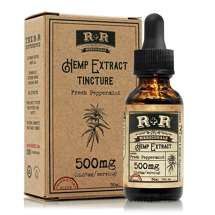 R + R Medicinals Peppermint Hemp Extract Tincture