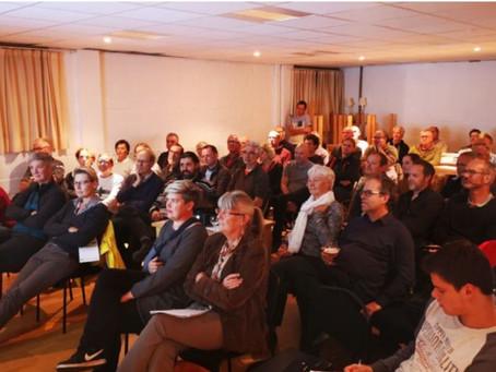 Geslaagd Off grid café: presentaties