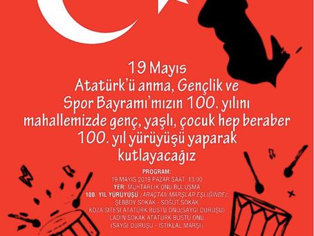 19 Mayıs Atatürk'ü Anma Gençlik ve Spor Bayramı 100.Yıl