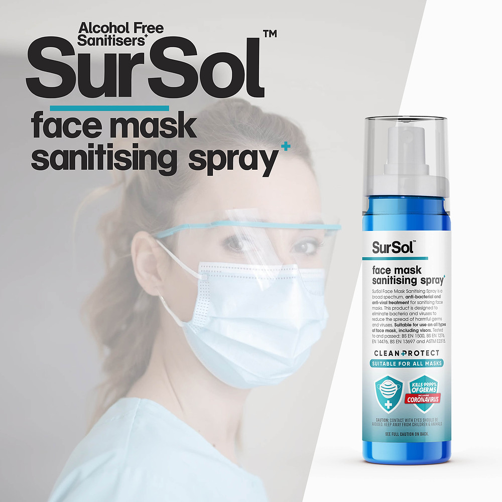 Face Mask Sanitiser Bottle