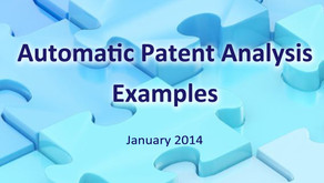 Automatic Patent Analysis - Examples