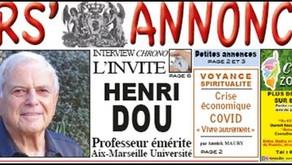 Interview du Professeur Henri Dou par Corse Annonce