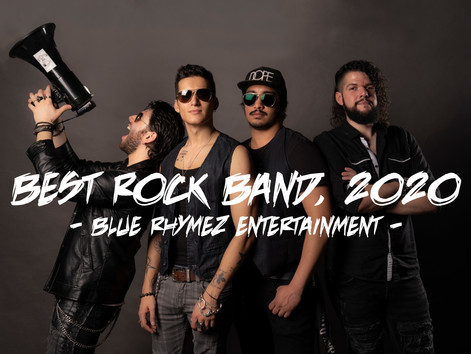 Blue Rhymez Entertainment Names One In The Chamber As Rock Band Of The Year!