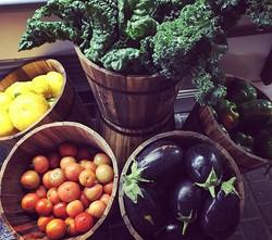 Fresh, locally grown produce..