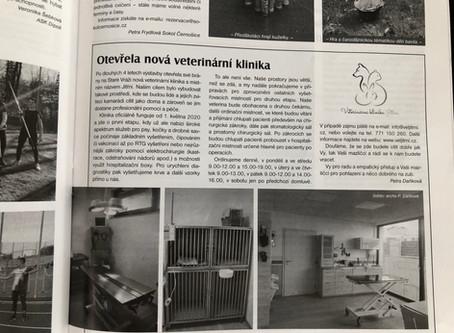 Veterinární klinika Jitřní v černošických listech