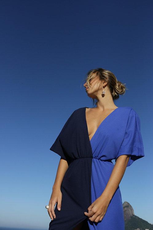 vestido double marinho+azul