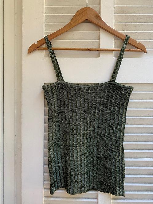 blusa tricot decote reto