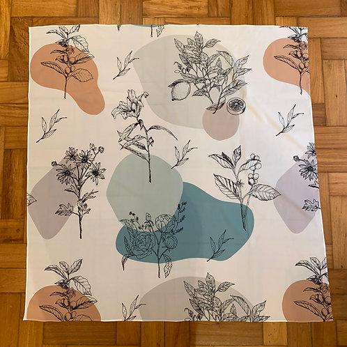 lenço estampa botânica