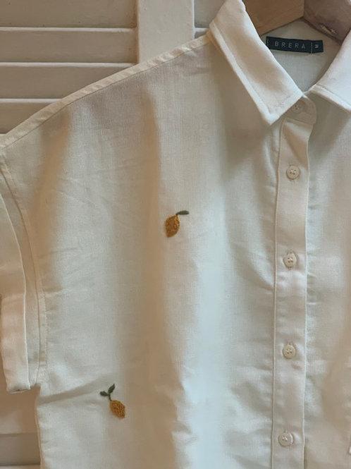 camisa bordada limão
