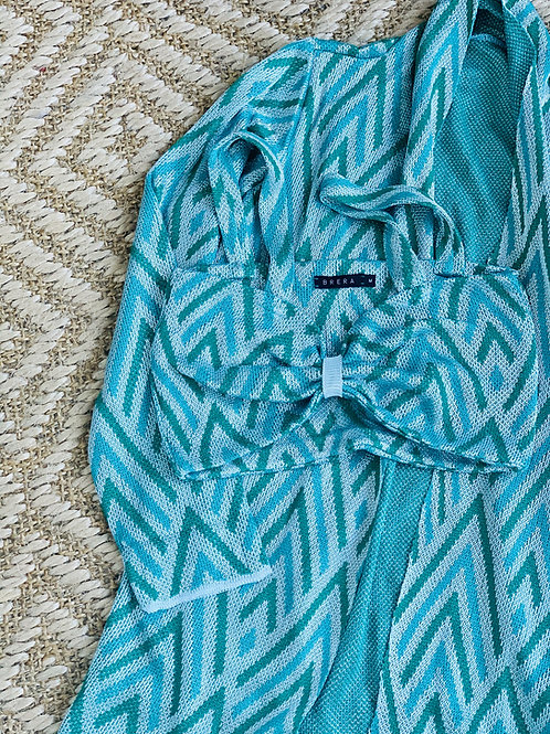 casaco jacquard tricot