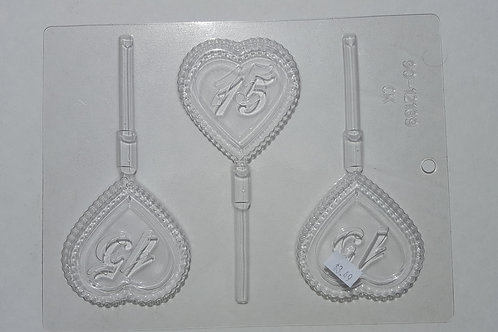 15th Anniversary Candy Heart Pop Mold