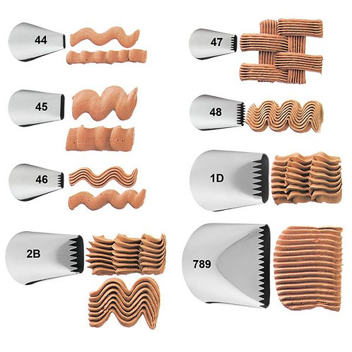Basketweave Piping Tips