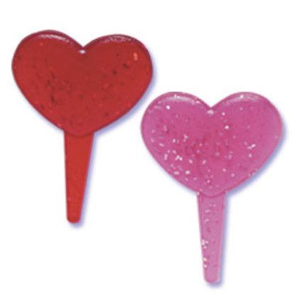 Heart Shaped Glitter Picks