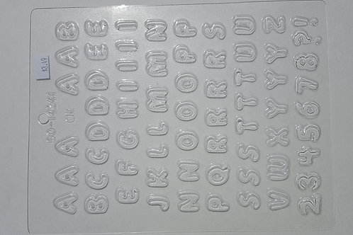 Small Letters Candy Mold