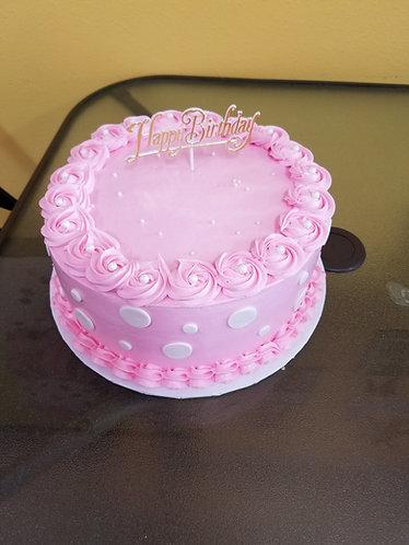 Pink Polka Dot Birthday Cake