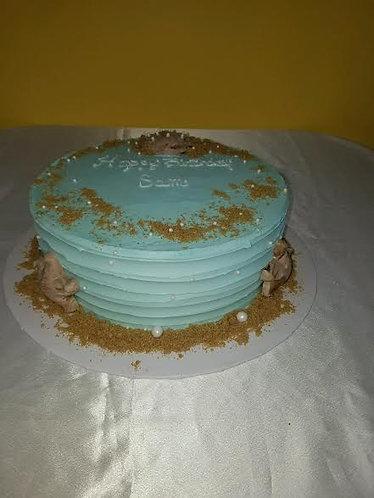 Buttercream Beach Cake