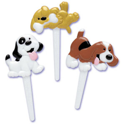 Puppy Cupcake Picks