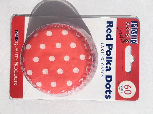 PME Red Polka Dot Cupcake Liners