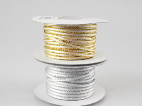Gold or Silver Edged Ribbon