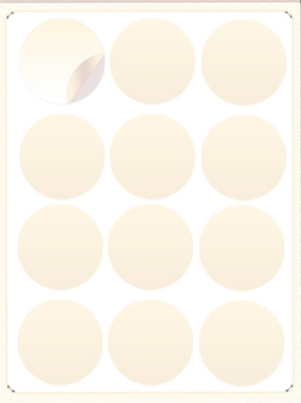 Cupcake Circle Frosting Sheets Only