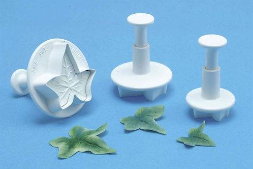Veined Ivy Leaf Plunger Cutter Set