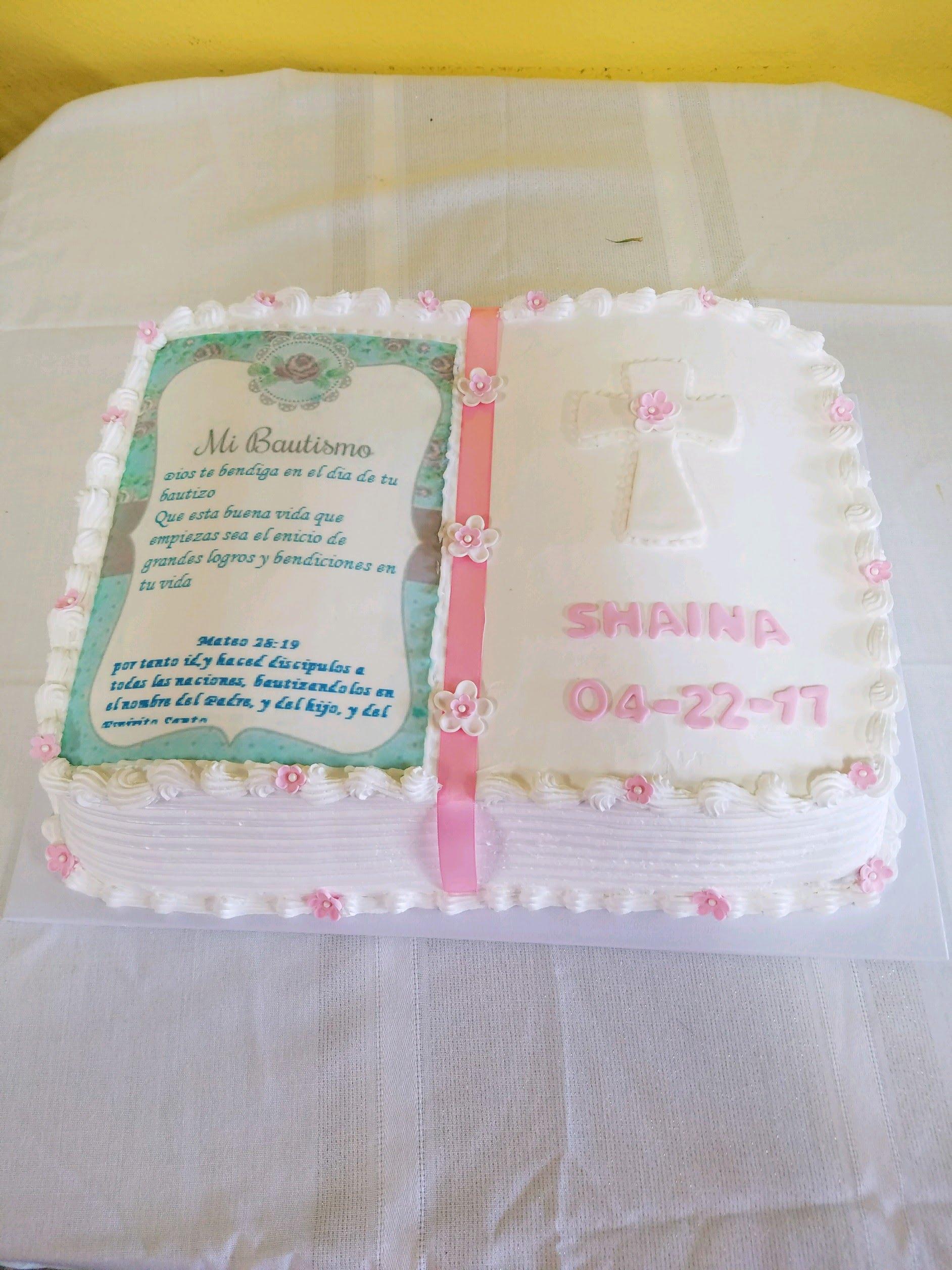 dulce baptism cake
