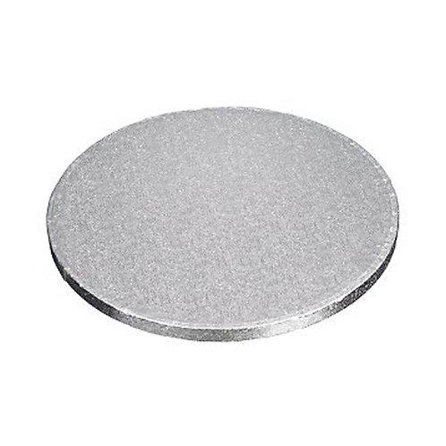 """1/4"""" Round Cake Drum   Silver"""