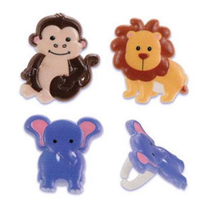 Zoo Animals Cupcake Rings