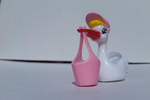 3D Stork Carrying Basket