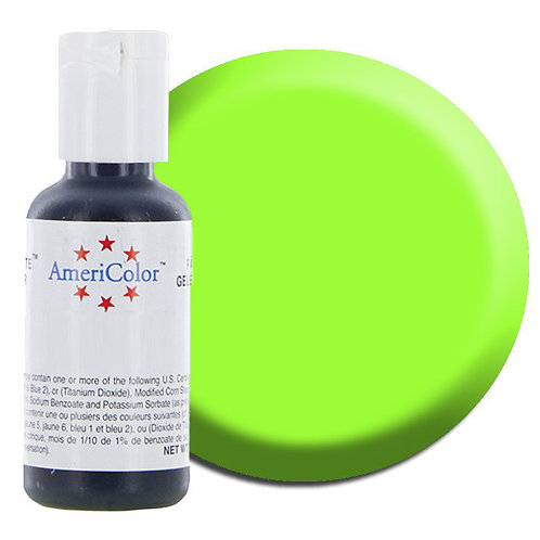 Americolor Gel Food Color- Electric Green