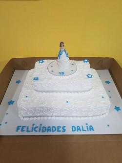 classy quincinerra cake