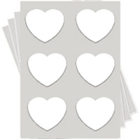 Heart Frosting Sheets Only