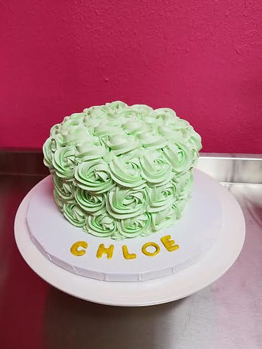Green Rose Cake
